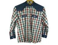 Рубашка мужская комбинированная