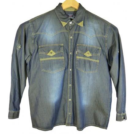 Рубашка джинсовая темная