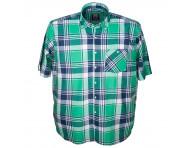 Рубашка короткий рукав клетка 013