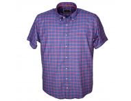 Рубашка короткий рукав клетка, в ассортименте 024