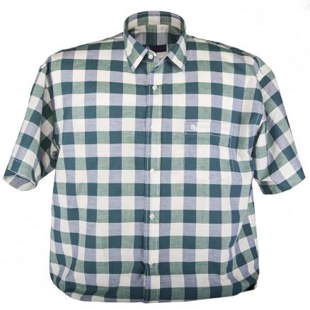 Рубашка короткий рукав в клетку 03